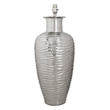 Buy John Lewis Kyoto Tall Ribbed Urn Lamp Base Online at johnlewis.com