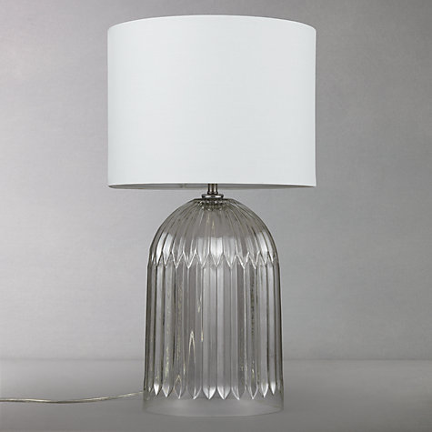 Buy John Lewis Mary Ribbed Glass Bottle Table Lamp Online at johnlewis.com