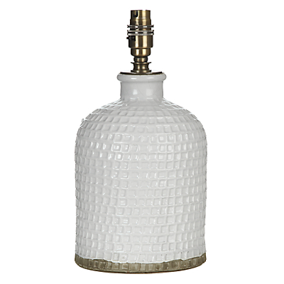 John Lewis Croft Collection Rowan Fishingnet Jar Lamp Base, White, Small