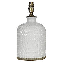 Buy John Lewis Croft Collection Rowan Fishingnet Jar Lamp Base, White, Small Online at johnlewis.com