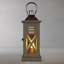 Buy John Lewis Weston Lantern Table Lamp, Grey Online at johnlewis.com