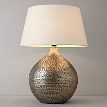 Buy John Lewis Kansai Dimpled Metal Table Lamp Online at johnlewis.com