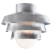 Buy Nordlux Elements 22 Galvanised Outdoor Flush Ceiling Light Online at johnlewis.com