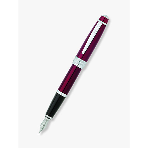 Buy Cross Bailey Fountain Pen, Red Online at johnlewis.com