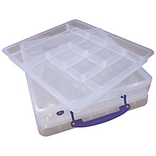 Buy John Lewis Storage Box with Scrapbook Tray, 7 Litres, Clear Online at johnlewis.com