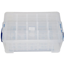 Buy John Lewis Storage Box with 4 Trays, 9 Litres, Clear Online at johnlewis.com
