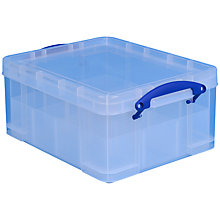 Buy John Lewis Large Storage Box with 2 Trays, 18 Litres Online at johnlewis.com