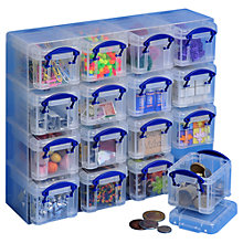 Buy John Lewis Plastic 16 Storage Box Organiser Online at johnlewis.com