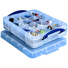 Buy Really Useful Products Storage Box with 1 Tray, 11 Litre, Clear Online at johnlewis.com