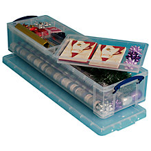 Buy Really Useful Products Storage Box with 2 Trays, 22 Litres, Clear Online at johnlewis.com