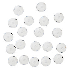 Buy John Lewis Shank Buttons, 11mm, Pack of 20, Clear Online at johnlewis.com