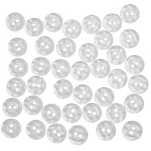 Buy John Lewis Mottled Buttons, 14mm, Pack of 40, White Online at johnlewis.com