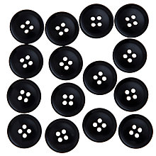 Buy John Lewis Gent's Buttons, 19mm, Pack of 15 Online at johnlewis.com