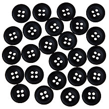Buy John Lewis Gent's Buttons, 15mm, Pack of 25 Online at johnlewis.com