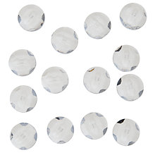Buy John Lewis Shank Buttons, 14mm, Pack of 14, Clear Online at johnlewis.com