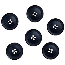 Buy John Lewis Gent's Buttons, 25mm, Pack of 6 Online at johnlewis.com