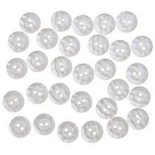 Buy John Lewis Mottled Buttons, 17mm, Pack of 30, White Online at johnlewis.com