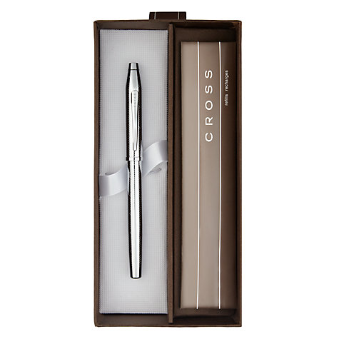 Buy Cross Century 11 Herringbone Fountain Pen, Chrome Online at johnlewis.com