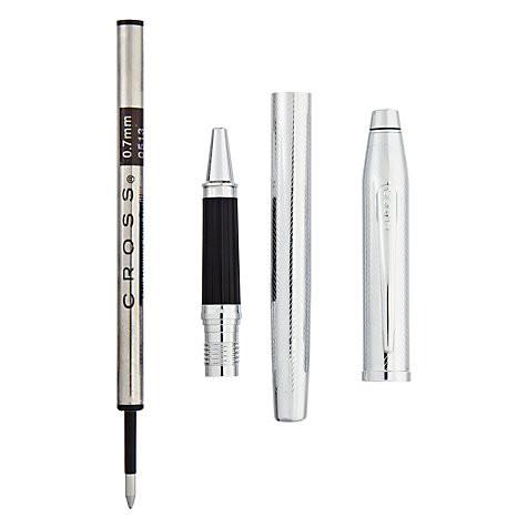 Buy Cross Century 11 Herringbone Rollerball Pen, Chrome Online at johnlewis.com