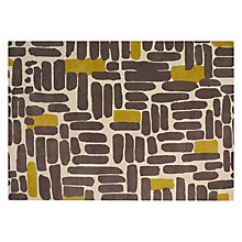 Buy John Lewis Bricks Rug, Steel/ Sulphur Online at johnlewis.com