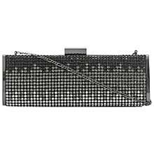 Buy Dune Batreena Clutch Bag, Black Online at johnlewis.com