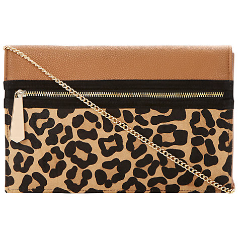 Buy Dune Extra Clutch Bag, Leopard Online at johnlewis.com