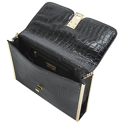 Buy Dune Ecro Clutch Bag, Black Croc Online at johnlewis.com