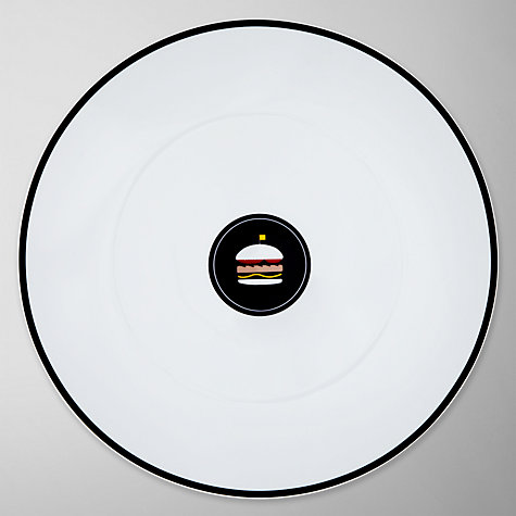 Buy John Lewis Diner Burger Plate, Black Online at johnlewis.com