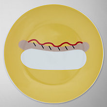 Buy John Lewis Diner Hotdog Side Plate, Yellow Online at johnlewis.com