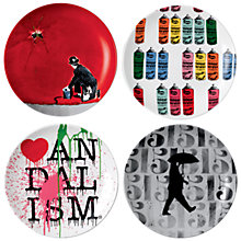 Buy Royal Doulton Street Art Nick Walker Plates, Set of 4 Online at johnlewis.com