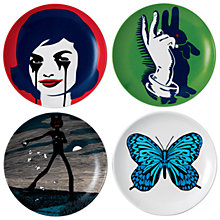 Buy Royal Doulton Street Art Pure Evil Plates, Set of 4 Online at johnlewis.com