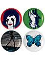 Royal Doulton Street Art Pure Evil Plates, Set of 4