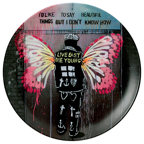 Buy Royal Doulton Street Art Pure Evil Beautiful Things Plate Online at johnlewis.com