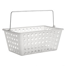 Buy John Lewis Bathroom Storage Basket, Frosted White Online at johnlewis.com