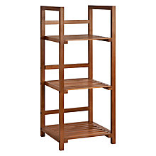 Buy John Lewis 3 Tier Bamboo Bathroom Shelf Unit Online at johnlewis.com