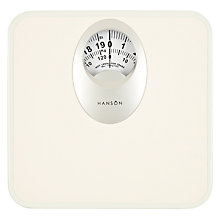 Buy Hanson Mechanical Bathroom Scale, White Online at johnlewis.com