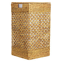 Buy John Lewis Water Hyacinth Square Laundry Hamper Online at johnlewis.com