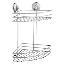 Buy John Lewis 2 Tier Corner Suction Basket Online at johnlewis.com
