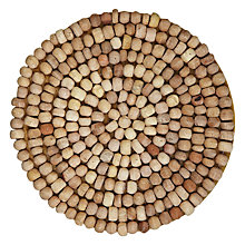 Buy John Lewis Wood Bead Coasters, Set of 4, Dia.10cm Online at johnlewis.com