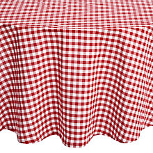 Buy John Lewis Diner Round Checked Tablecloth, Dia.180cm, Red Online at johnlewis.com