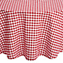 John Lewis Diner Round Checked Tablecloth, Dia.180cm, Red