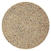 Buy John Lewis Wood Bead Mat, Dia.30cm Online at johnlewis.com