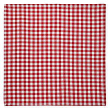 Buy John Lewis Diner Check Napkins, Set of 4, Red Online at johnlewis.com
