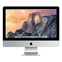 "Buy Apple iMac ME087B/A All-in-One Desktop Computer, Quad-core Intel Core i5, 8GB RAM, 1GB Graphics, 1TB, 21.5"" Online at johnlewis.com"