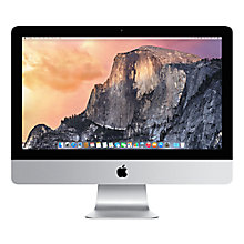 "Buy Apple iMac ME086B/A All-in-One Desktop Computer, Quad-core Intel Core i5, 8GB RAM, 1TB, 21.5"" Online at johnlewis.com"