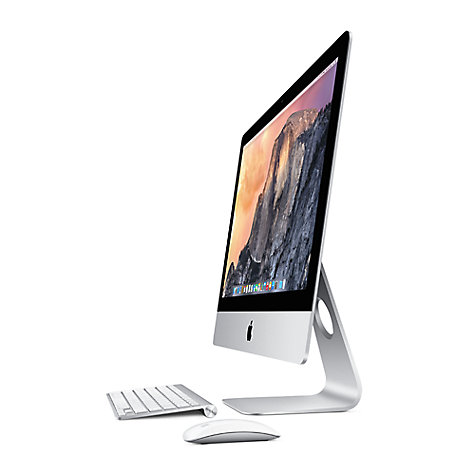 "Buy Apple iMac ME088B/A All-in-One Desktop Computer, Quad-core Intel Core i5, 8GB RAM, 1GB Graphics, 1TB, 27"" Online at johnlewis.com"