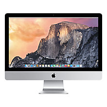 "Buy Apple iMac ME088B/A All-in-One Desktop Computer, Quad-core Intel Core i5, 8GB RAM, 1TB, 27"" Online at johnlewis.com"