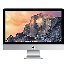 "Buy Apple iMac ME089B/A All-in-One Desktop Computer, Quad-core Intel Core i5, 8GB RAM, 1TB, 27"" Online at johnlewis.com"