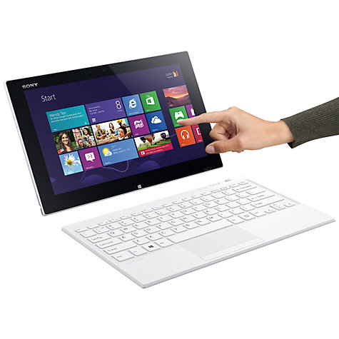 "Buy Sony Vaio Tap 11 Tablet, Stylus & Keyboard Cover, Intel Pentium, Windows 8, 11.6"", 128GB, Wi-Fi, White Online at johnlewis.com"