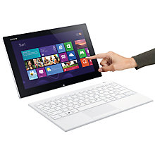 "Buy Sony Vaio Tap 11 Tablet, Stylus & Keyboard Cover, Intel Core i5, Windows 8, 11.6"", 128GB, Wi-Fi, White Online at johnlewis.com"